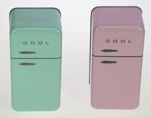Kühlschrank Klein : KÜhlschrank retro blechdose klein sort.